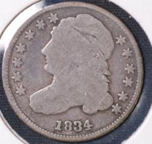 1834 Capped Bust Dime - G