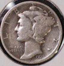 1931 Mercury Dime - VF