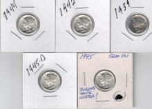 1939-1945D (n/c) Mercury Dime Lot