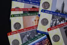 1919-1931 Mercury Dime Lot - On History Cards