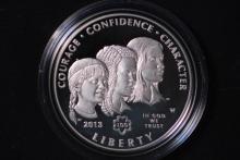 2013-W Girl Scouts Silver Dollar - Gem Proof