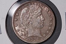 1914 Barber Quarter - AU