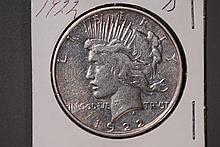 1922-D Peace Silver Dollar - XF