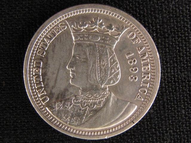 1893 Isabella Quarter - UNC Details