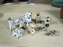 Collection of 9 Wade Whimsie Figurines