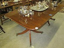 Georgian Style D-End Dining Table