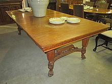 Carved Oak Extension Dining Table
