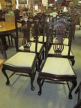 6 Early 20thC Mahogany Dining Chairs