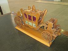 Hand Carved Oak Carriage