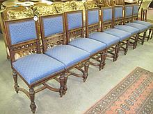 Set of 8 19thC Oak Dining Chairs