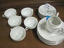 18 Piece Part Oriental Tea Set