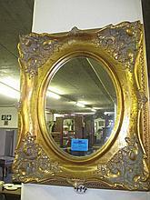 Ornate Gilt Frame Wall Mirror