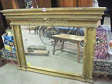 Gilt Framed Mantle Mirror