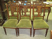 6 Victorian Dining Chairs