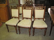 6 Late Victorian Dining Chairs