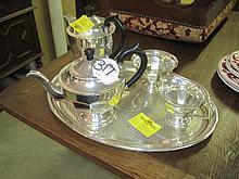 5 Piece Silver Plated Tea Set
