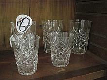 5 Crystal Glasses