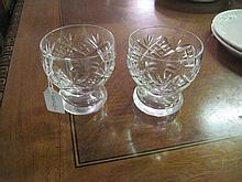2 Webb Corbett Crystal Whiskey Glasses