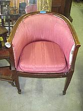 Victorian Oak Tub Chair