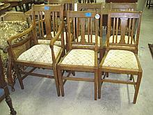 Set of 6 Oak Dining Chairs