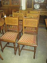 6 19thC French Oak Dining Chairs