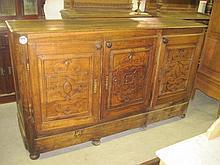 19thC Carved Oak Sideboard