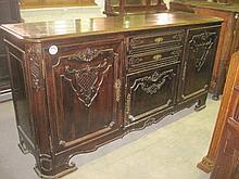 19thC Oak Carved Sideboard