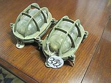Pair Brass Ships Lanterns