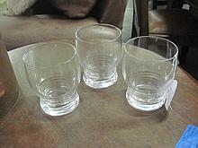 3 Stuart Crystal Whiskey Glasses