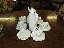 13 Piece Part Royal Tuscan Coffee Set