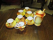 15 Piece Porcelain Coffee Set