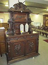 Victorian Carved Oak Buffett