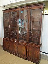 George III Style Mahogany Library Bookcase