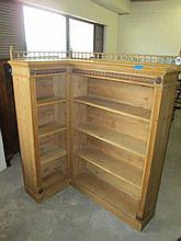 Victorian Pine Corner Bookcase