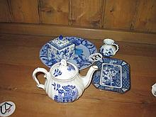 Selection of Blue and White Ware