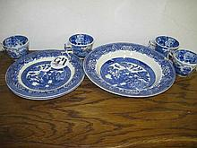 Woods & Sons Blue & White Tea Wares