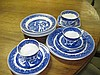 15 Piece Part Fenton Blue & White Dinner Set