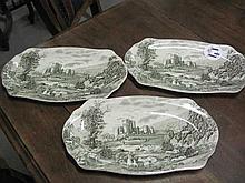 3 Johnson Bros Platters