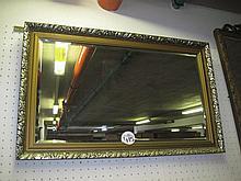 Gilt Framed Bevelled Wall Mirror