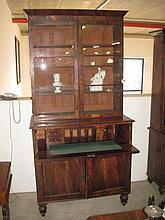 Georgian Mahogany Secretaire Bookcase