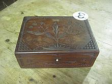 Wooden Hand Carved Jewellery Box