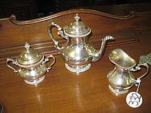 3 Piece Silver Plated Tea Set