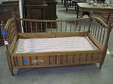 Oak Carved Day Bed