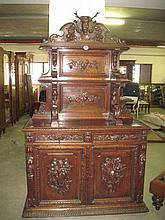 Victorian Carved Oak Buffett