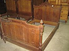 19thC Carved Oak Bed