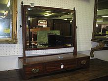 Georgian Mahogany Swing Mirror