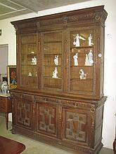 Victorian Carved Oak Bookcase