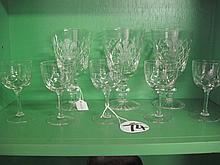 8 Stuart Crystal Glasses