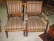 Mahogany Grandfather & Grandmother Chairs