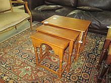 Oak Nest of 3 Tables